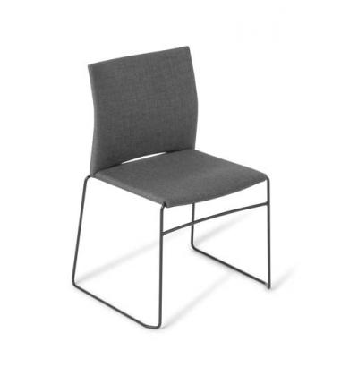 Web black sled upholst maharam b
