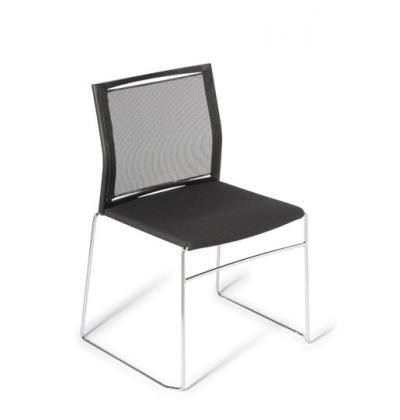 Web upholstered seat mesh back b