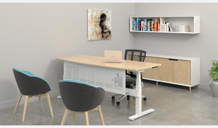 Scene Accent Oslo cabinet 8 w Summmit desk BK