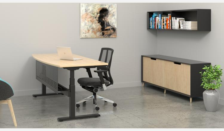 Scene Accent Oslo cabinet 9 w Summmit desk BK