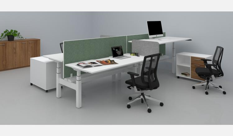 Scene Accent Summit desk pod sit to stand 137